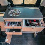 Aktiv 2 Camper Ausbau für Mercedes Vito V-Klasse zum nachrüsten Küche